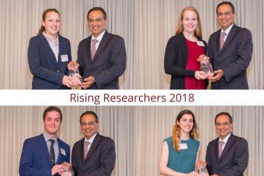 CNS Students with Chancellor - 2018 Rising Researchers