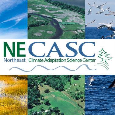 NECASC logo over collage of Northeast ecosystems