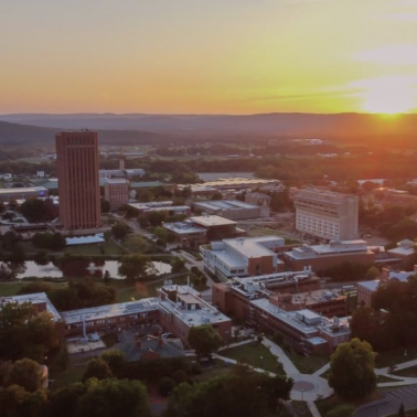 UMass Amherst Campus at Sunset