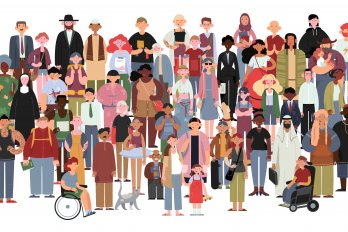 An illustration of a diverse group of people