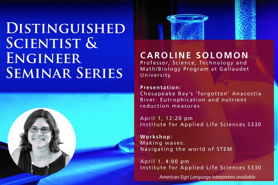 Distinguished Scientist and Engineer Seminar Series. Caroline Solomon. April 1, 2019