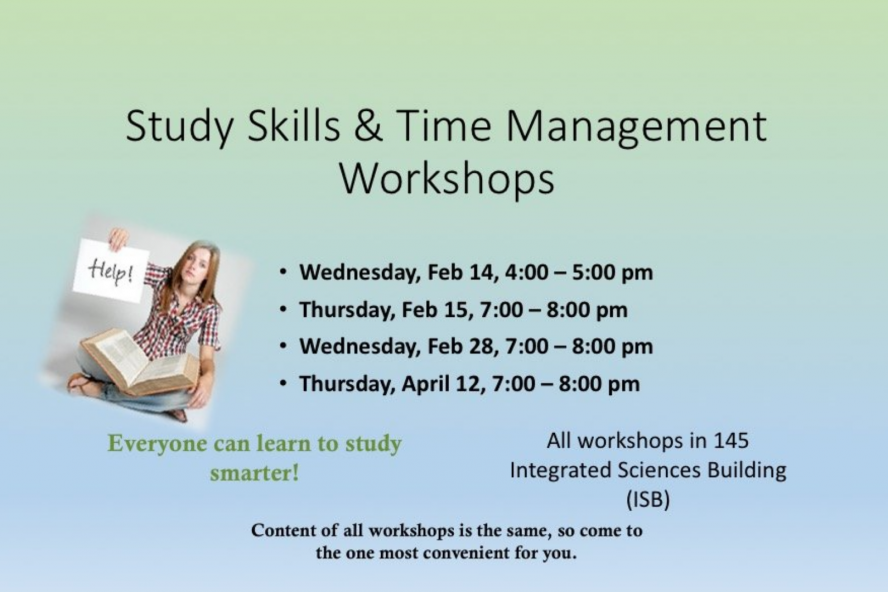 Study Skills & Time Management Workshops