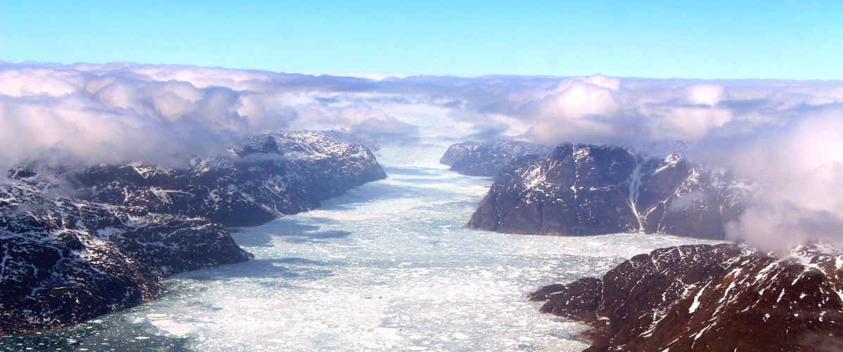 ice sheet canyon in Greenland