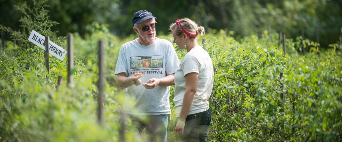 John Gerber, Sustainable Food and Farming, works hard to help CNS undergrads have great field experiences.