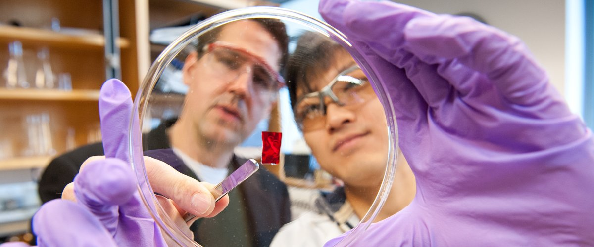 CNS faculty such as polymer scientist Greg Tew are campus leaders in developing novel solutions in health and medicine.