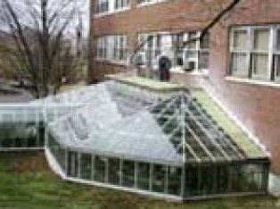 Photo of Morrill with attached greenhouse